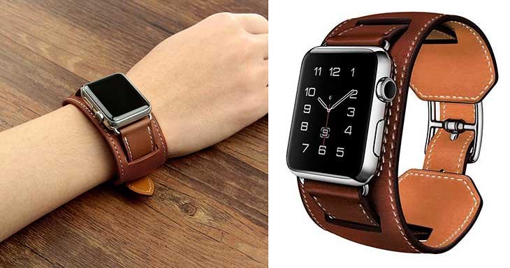 Correa Apple Watch Réplica de Manchette Diseño Ecuestre - SUNDAREE