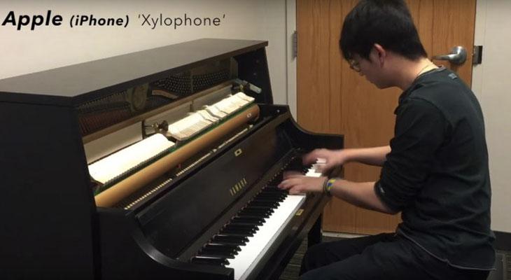 Este pianista convierte los tonos de llamada de Apple en una pieza clásica