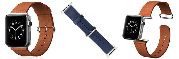 Correa de cuero con hebilla clásica para Apple Watch - Trop Saint