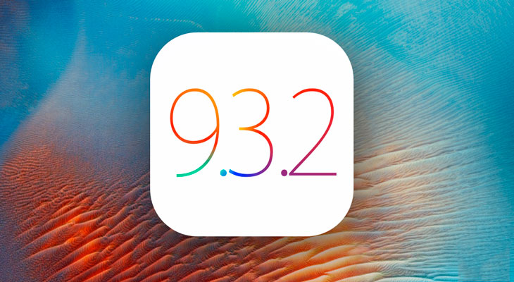 iOS 9.3.2 disponible para descargar, estas son las novedades