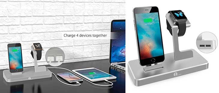 Dock 3 en 1 para Apple Watch, iPhone y otros dispositivos - 1byone