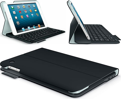 Funda-Teclado para iPad mini 1, 2 y 3 - Logitech Keyboard Folio