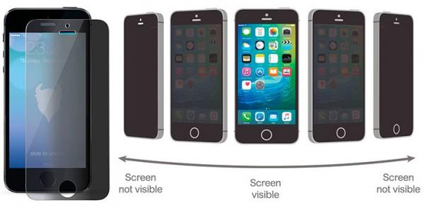 Protector de pantalla con filtro de privacidad para iPhone SE, 5, 5s y 5c - MediaDevil Magicscreen Privacy Edition