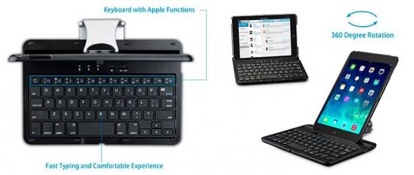 Teclado con funda dura para iPad mini 4 - Mpow