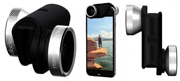 Juego de lentes 4 en 1 (ojo de pez, gran angular, macro 10X y macro 15X) para iPhone 6, 6s, 6 Plus y 6s Plus | Olloclip