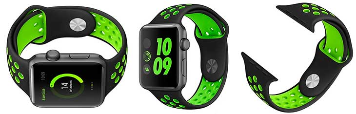 "Correa tipo ""Nike Sport"" para Apple Watch - Ontube"