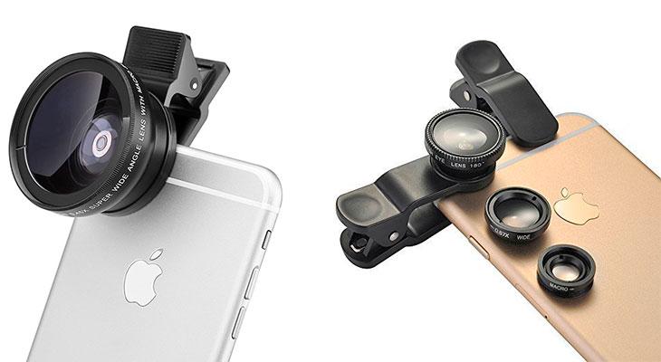 """Las 6 mejores lentes """"ojo de pez"""", gran angular y macro para iPhone 6, 6s, SE, 5 & 5s"""