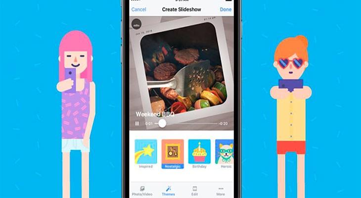 Slideshow de Facebook crea mini películas a partir de tus fotos y vídeos
