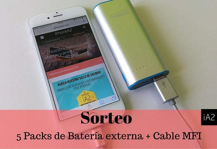 Sorteamos 5 Packs de accesorios para tu iPhone (Batería+Cable MFI de Nylon de Lumsing)
