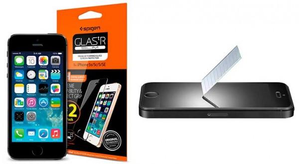 Protector de pantalla para iPhone SE, 5, 5s y 5c - Spigen Glas.tR Slim