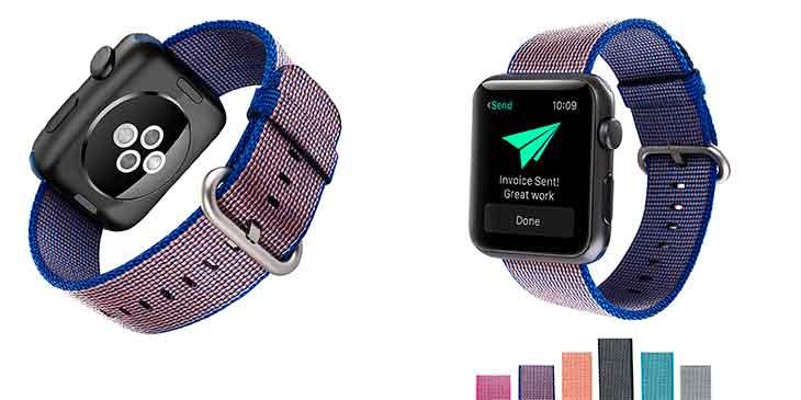"""Correa de nylon tipo """"Loop Deportiva"""" para Apple Watch - Sumgar"""