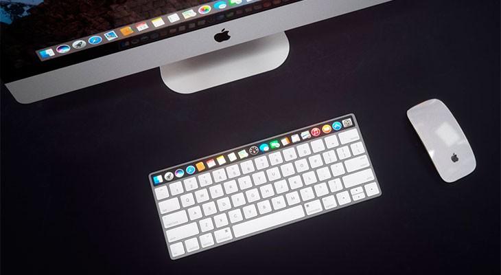 ¿Podría tener el teclado del Mac una pantalla táctil OLED? [Concepto]
