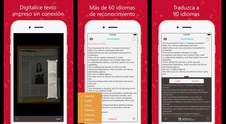 La aplicación gratis de la semana es TextGrabber + Translator