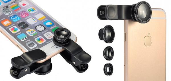 Lente 3 en 1 (ojo de pez, gran angular y macro) para iPhone - Topop