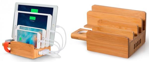 Upow soporte de carga 5 en 1 para Apple Watch, iPhone, iPad y otros dispositivos - Upow