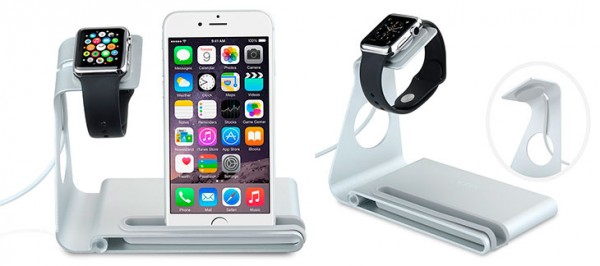 c9378eb71ab Base de carga para Apple Watch con soporte para iPhone - VTin DuoStand