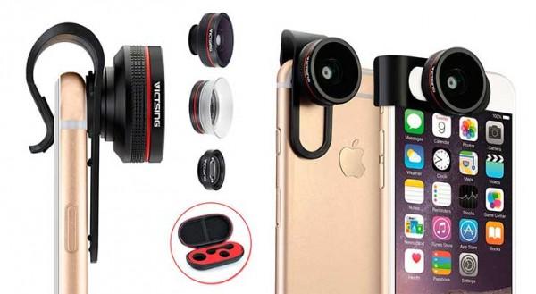 Lente 3 en 1 (Ojo de pez, gran angular y macro) para iPhone - VicTsing