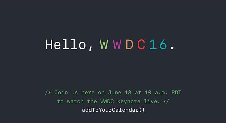 Apple transmitirá en directo la keynote de la WWDC 2016