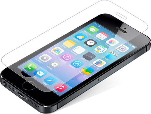 Protector de pantalla premium para iPhone SE, 5, 5s y 5c - ZAGG InvisibleShield Glass