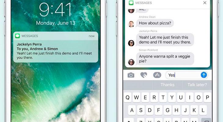 Las notificaciones enriquecidas de iOS 10 pronto estarán disponibles en iPhones sin 3D Touch