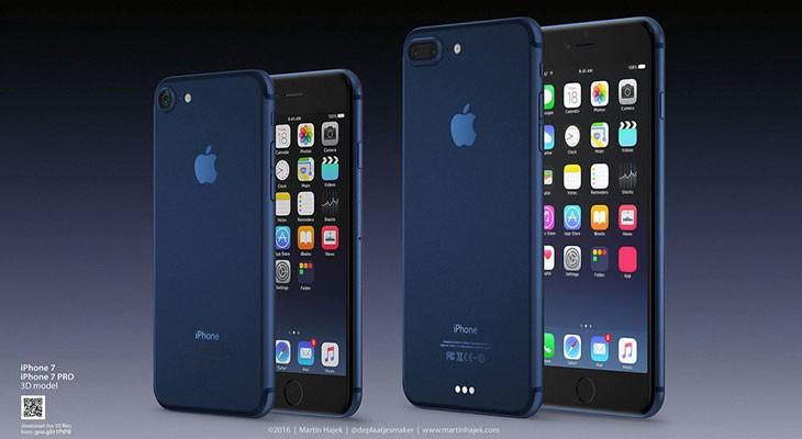 Así sería el iPhone 7 azul [Concepto]
