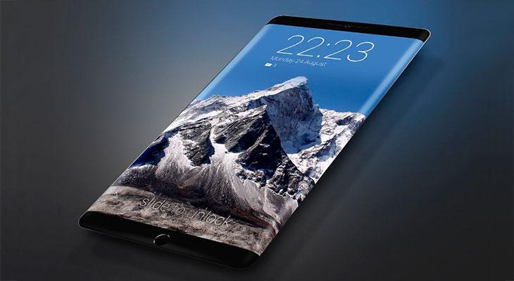 El iPhone 8 podría tener una pantalla OLED con doble curva, que se extendería a los laterales