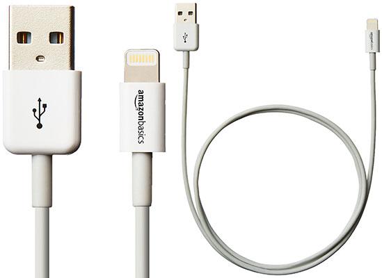 Cable Lightning MFi barato para iPhone y iPad - AmazonBasics