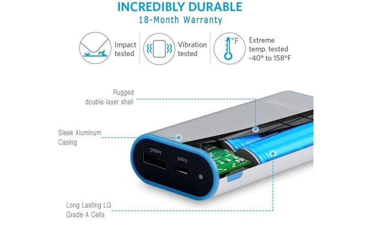 """Batería externa tipo """"petaca"""" 6.700 mAh de Lumsing"""