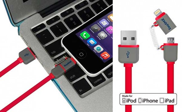 Cable 2 en 1: Lightning MFi + microUSB - EasySMX