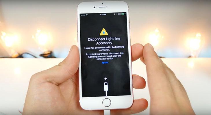 iOS 10 te avisa si hay líquido en el conector Lightning de tu iPhone