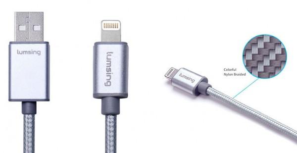 Cable Lightning MFi de nylon para iPhone y iPad - Lumsing