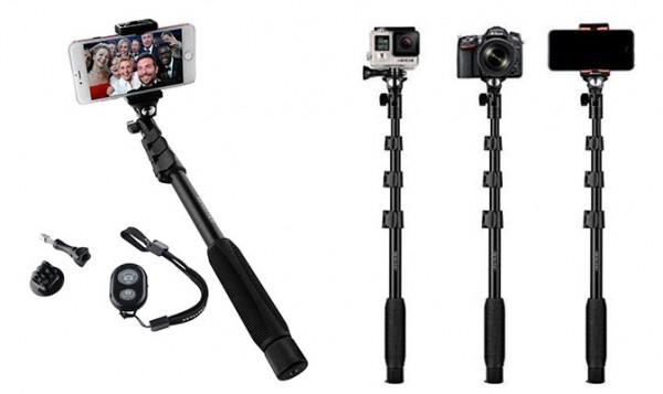 Palo Selfie para iPhone, otros smartphones, Go Pro y cámaras compactas - Arespark