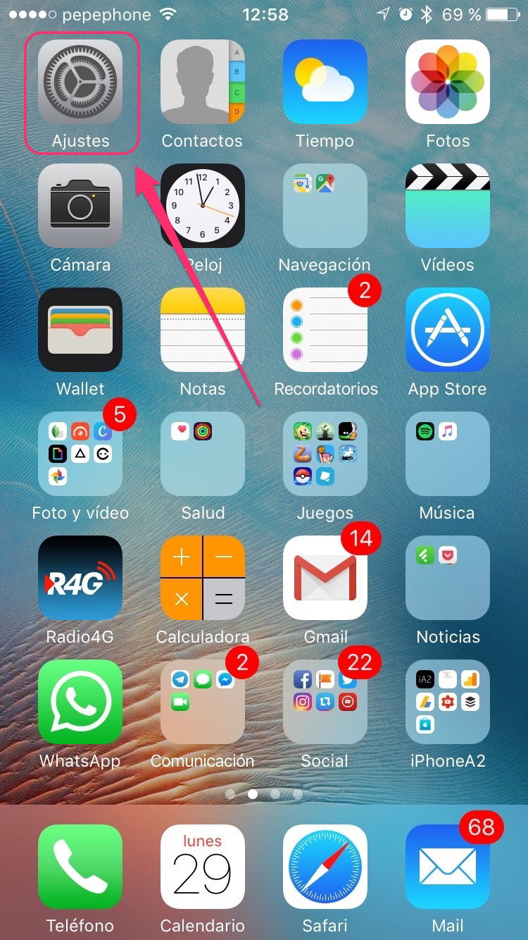 Como desbloquear pantalla inicio iphone 4