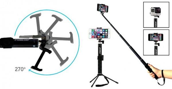 Palo selfie con trípode para iPhone y otros móviles - Foneso