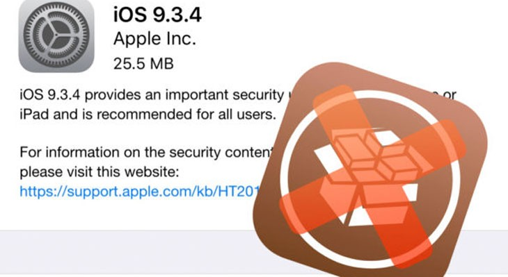 iOS 9.3.4 mata el Jailbreak, es definitivo…