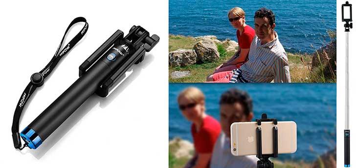 Palo Selfie Monopod para iPhone 6, 6s, 6 Plus, 5, 5s y SE - Mpow iSnap Pro