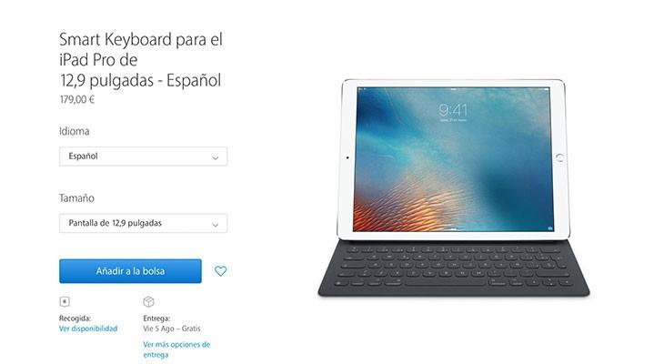 El Smart Keyboard ya está disponible en español