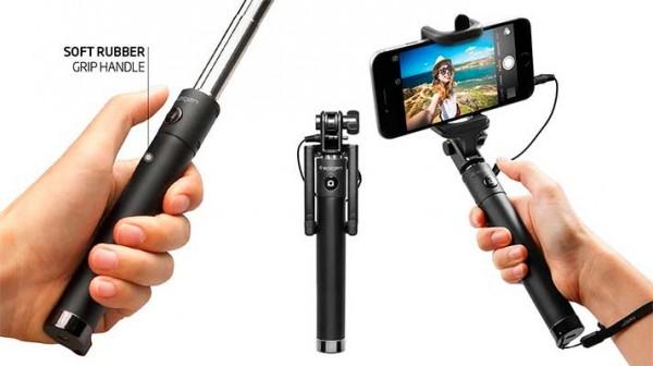 Palo Selfie para iPhone con conexión por puerto de auriculares - Spigen