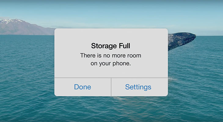 Google se burla de los iPhones de 16 GB en su nuevo anuncio