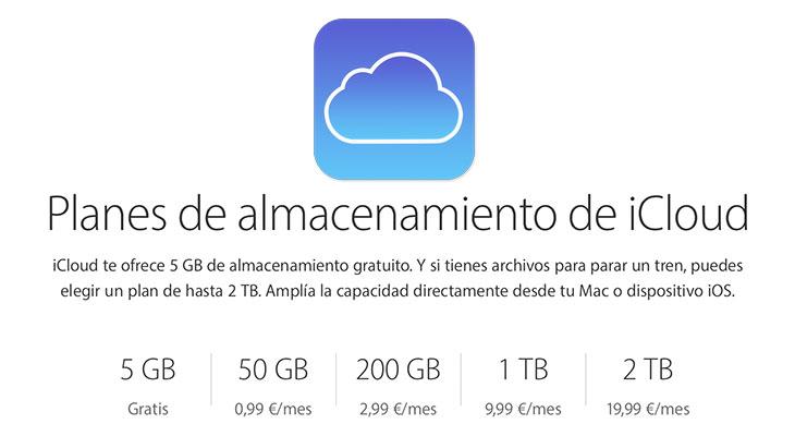 Apple añade una nueva opción de 2 TB de almacenamiento a iCloud