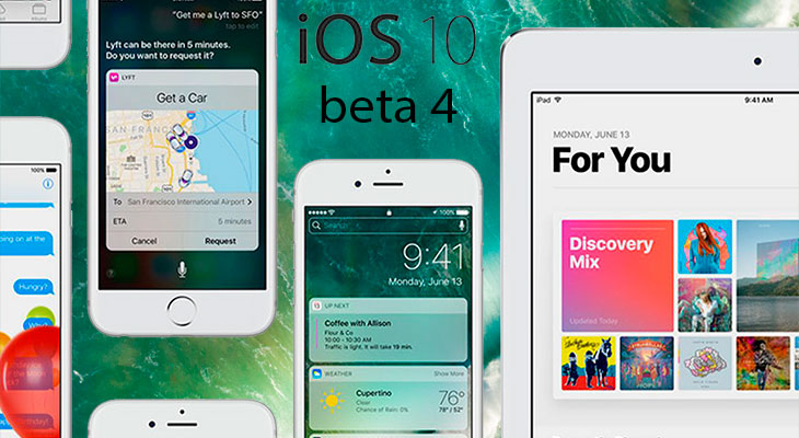 Apple lanza la beta 4 de iOS 10 para desarrolladores: estas son todas las novedades