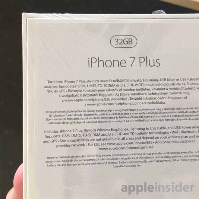 Caja iPhone 7 Plus Airpods