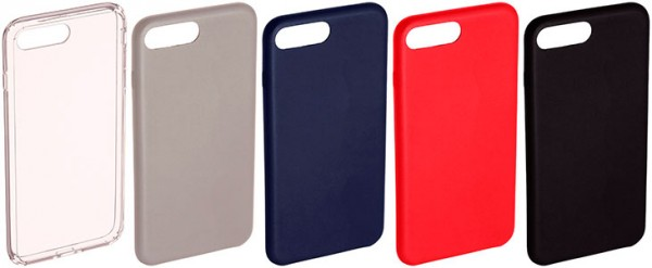 Funda tipo Bumper para iPhone 7 y 7 Plus - AmazonBasics