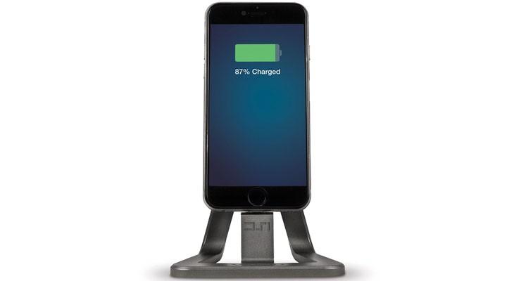 Base de carga y sincronización de aluminio para iPhone