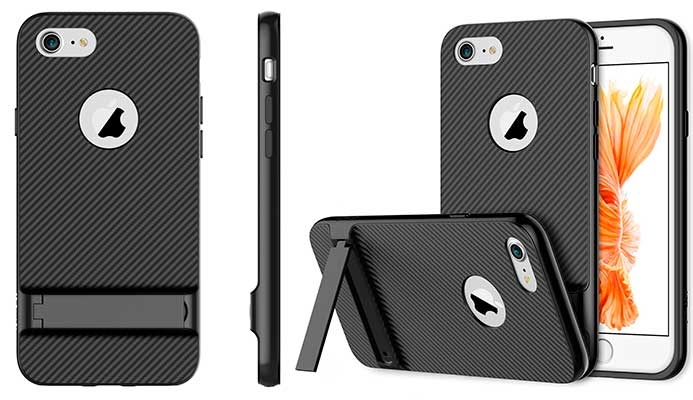 Funda con soporte para iPhone 7 y 7 Plus - JETech Slim-Fit