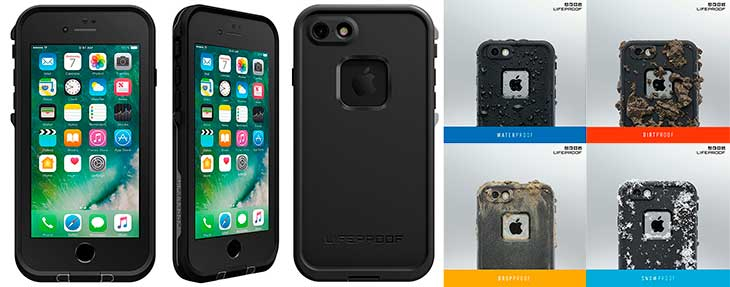 Funda impermeable y ultrarresistente para iPhone 7 y 7 Plus - LifeProof Fre