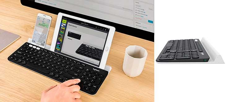 Teclado inalámbrico multidispositivo y con sección numérica, para Mac, PC, iOS y Android | Logitech K780