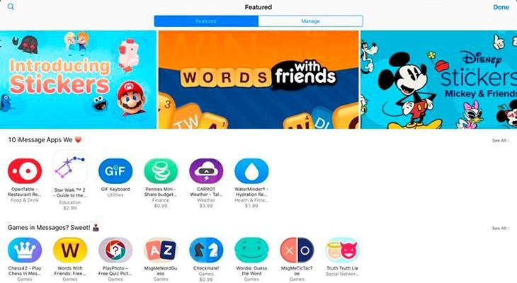 Apple lanza oficialmente la App Store de Messages antes del lanzamiento de iOS 10