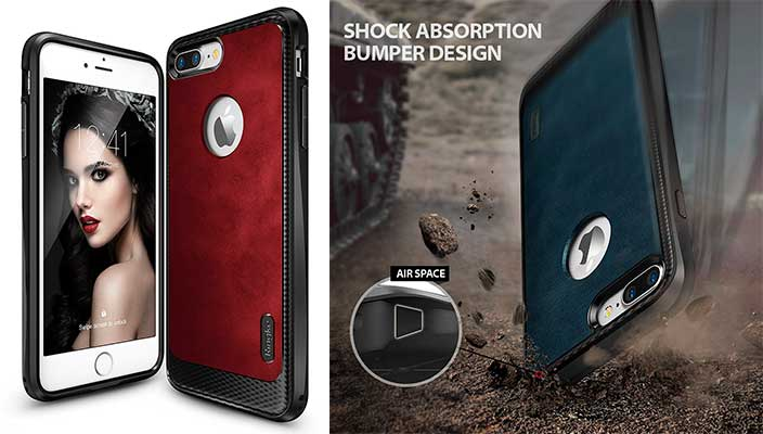 Funda con textura de cuero para iPhone 7 y 7 Plus - Ringke Flex S Series