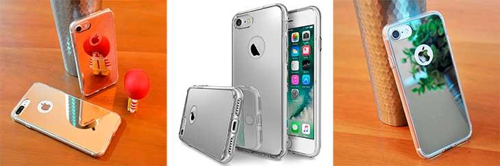 Bumper con acabado espejo para iPhone 7 y 7 Plus - Ringke Fusion Mirror
